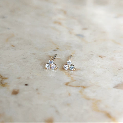 Trilogy Ear Studs