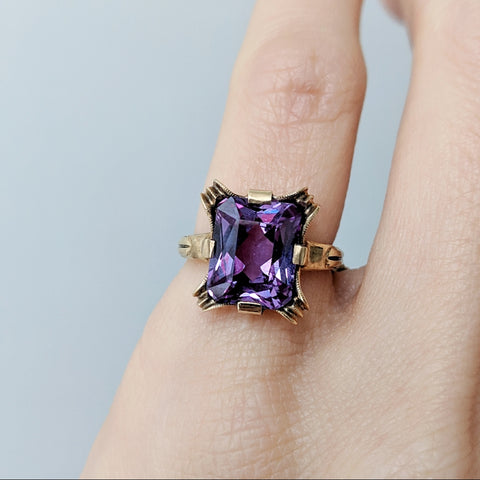 Crystal Peek Ring