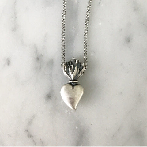 Sacred Heart Urn Necklace
