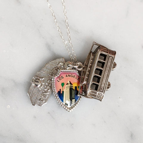 Vintage California Charm Necklace