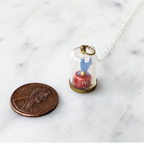 Vintage World's Smallest Weather Vane Necklace