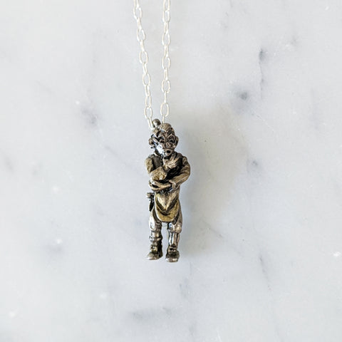 Vintage Wolfman Charm Necklace
