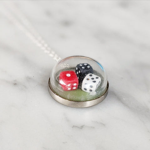 Antique Domed Dice Necklace