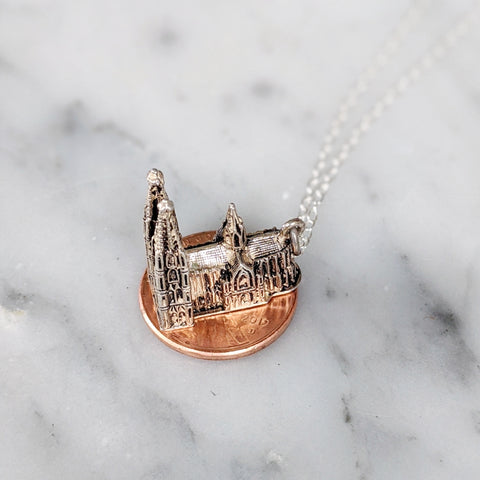 Vintage Cologne Germany Cathedral Necklace