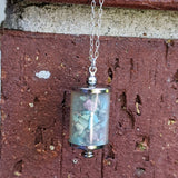 Vintage Stone Chip Canister Necklace