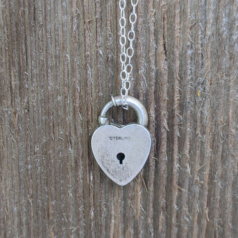 Antique Mayme Heart Lock Necklace