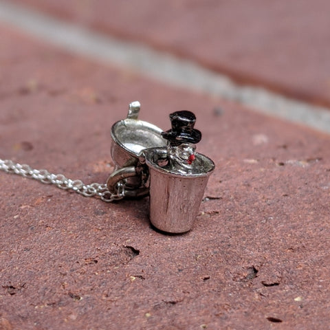 Antique Drunk Martini Shaker Necklace