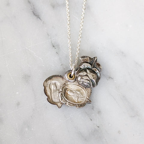 Antique Rose Saint Slider Necklace