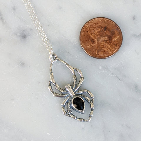 Onyx Spider Necklace