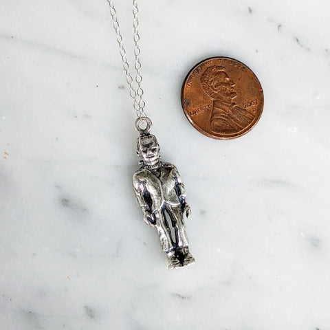 Vintage Frankenstein Charm Necklace