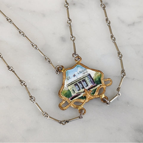 Antique St Louis World's Fair Necklace