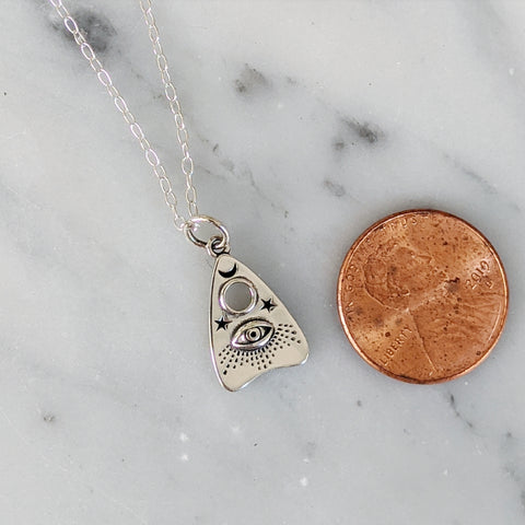 Ouija Planchette Charm Necklace