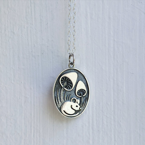 Hidden Mouse Necklace