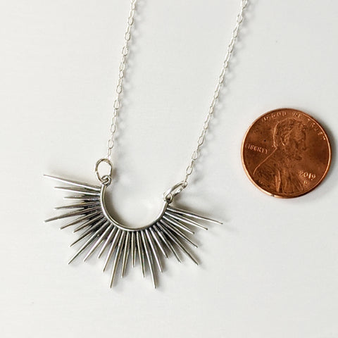 Spiked Burst Pendant Necklace