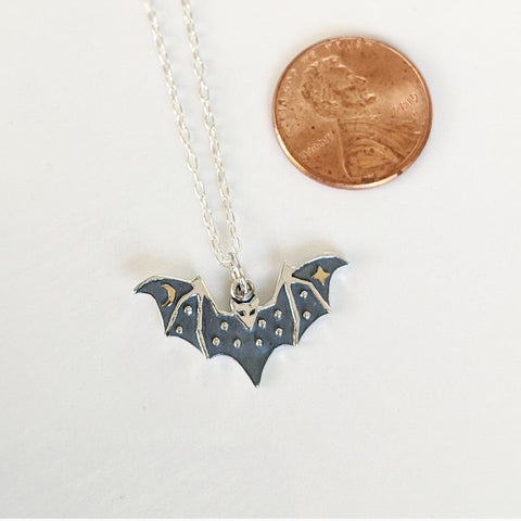 Night Sky Bat Necklace