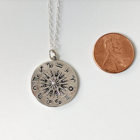 Zodiac Sun Pendant Necklace