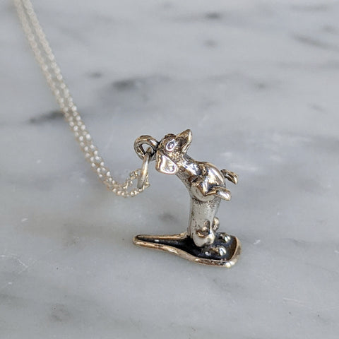 Begging Dachshund Necklace