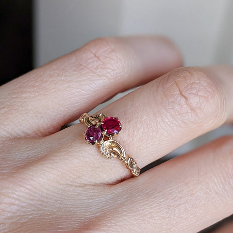 Victorian Ruby and Garnet Ring