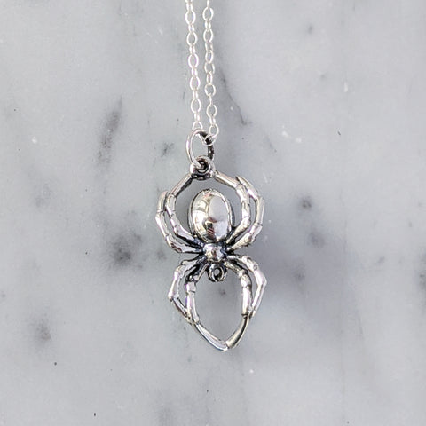 Sterling Spider Necklace