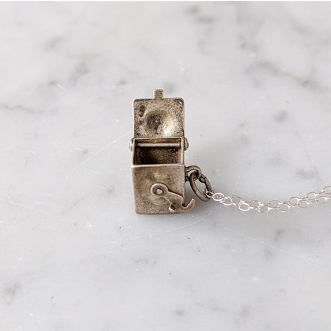 Antique Sterling Box Necklace