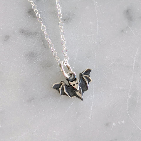 Sterling Baby Bat Necklace