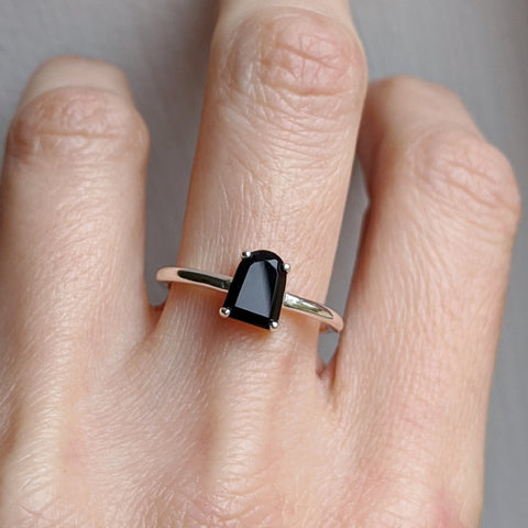 Onyx Tombstone Ring