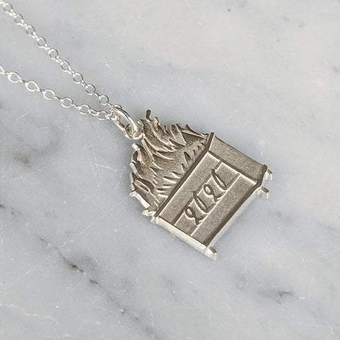 Commemorative 2020 Dumpster Fire Charm Necklace