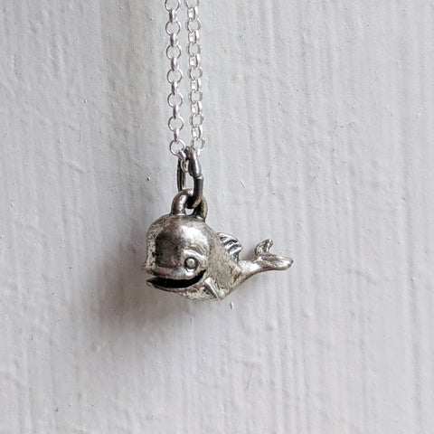 Vintage Mini Whale Necklace