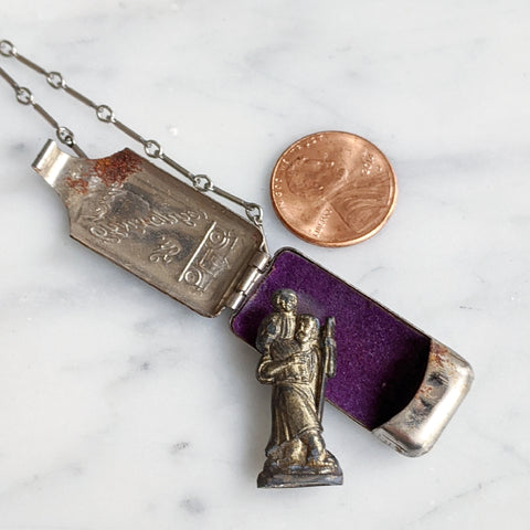 Antique Pocket Saint Necklace