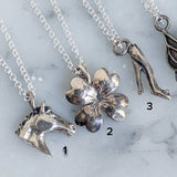Antique Sterling Charm Necklace