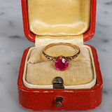 Antique Victorian 10k Ruby Solitaire Ring