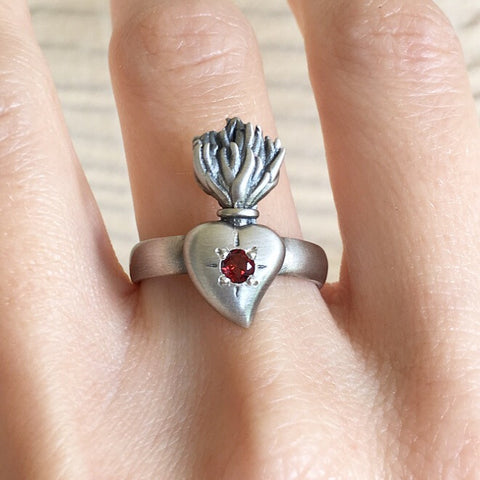 Sacred Burning Heart Ring