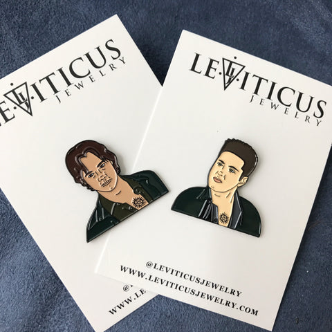 Sam and Dean Winchester Pins