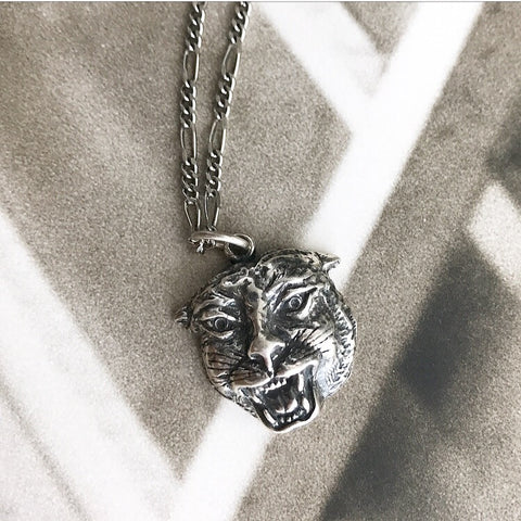 Vintage Wild Cat Necklace