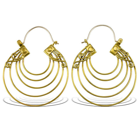 Art Deco Hoop Earrings