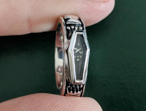 Skeletal Memento Mori Ring