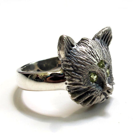 Three Eyed Cat Ring
