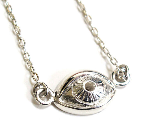Moon Phase Crystal Ball Necklace