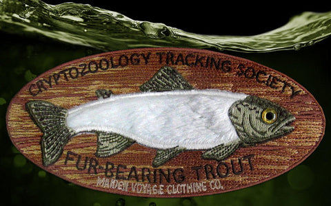 Mounted Fur Bearing Trout Patch