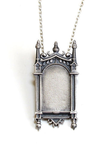 Oxidized Lotus Necklace