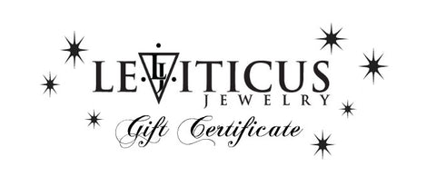 Leviticus Jewelry Gift Certificate