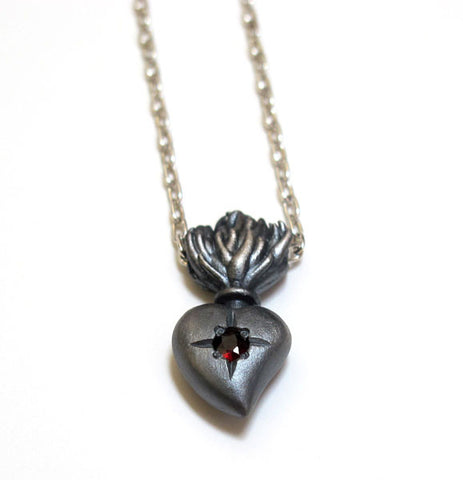 Sacred Burning Heart Necklace