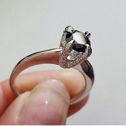 Miniature Crystal Talon Ring