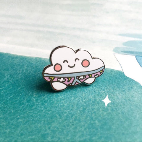 Thunderpants Cloud Pin