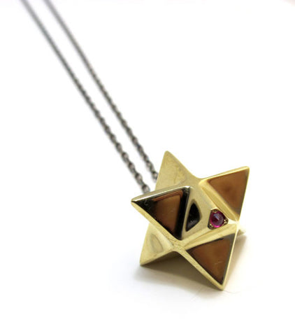 Ruby Pendulum Necklace