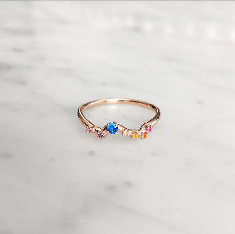 Immediate Shipping Rainbow Ring Size 7