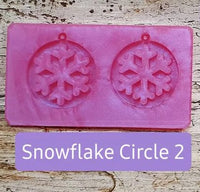 Christmas Earring Pendant Silicone Mould