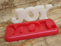 Joy: Christmas Freestanding Word Silicone Mould