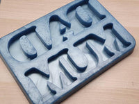 Mum or / and Dad Freestanding Word Silicone Mould