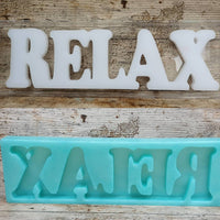 Relax: Freestanding Word Silicone Mould